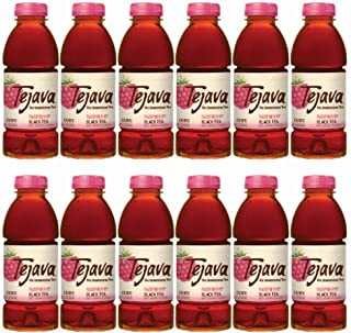 Tejava Unsweetened Black Iced Tea with Raspberry, 16.9oz PET Bottles, Award Winning, Non-GMO-Verified, from Rainforest Alliance Certified farms (12 Pack)