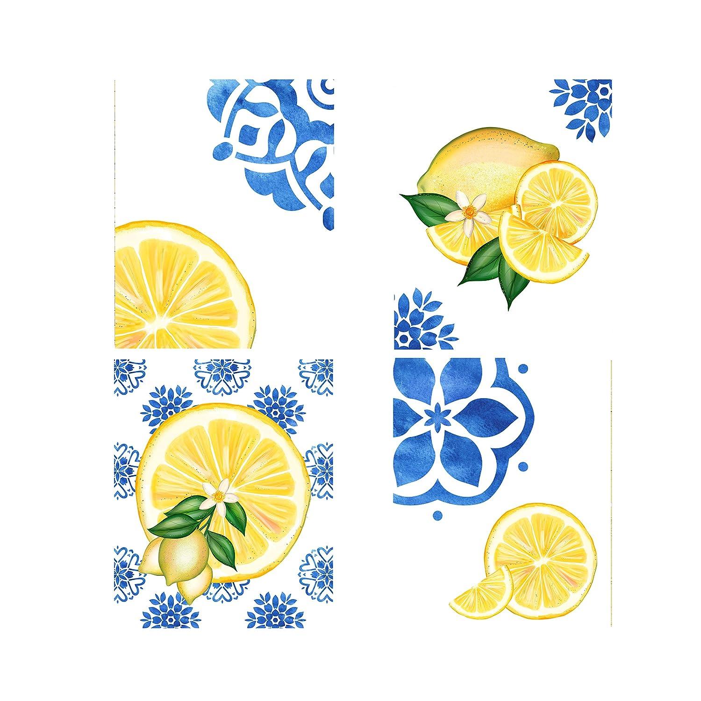 Set of 4 8x10 Mediterranean Prints Wall Los Angeles Mall free Art Lemons Canvas