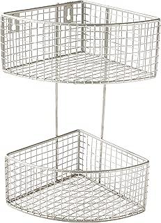 Spectrum Diversified 2-Tier Corner Basket, Satin Nickel