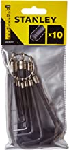 Stanley STMT69213-8 Set 10 Allen Wrenches with Ring