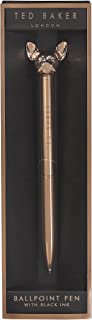 Ted Baker ATED436 French Bulldog Signature Ballpoint Pen, Rose Gold