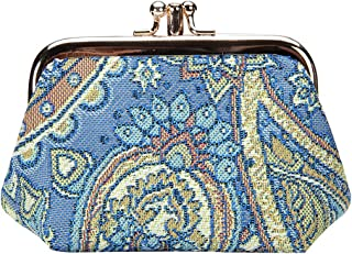 Paisley in Paradise Blue Frame Purse by Signare/Floral Womens Ladies Coin Tapestry Clasp Wallet FRMP/FRMP-PAIS