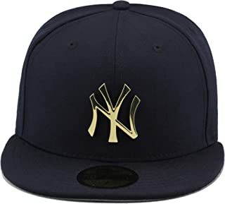 7e901e7024eb9 New Era New York Yankees Navy Gold Metal Badge Fitted Hat Cap