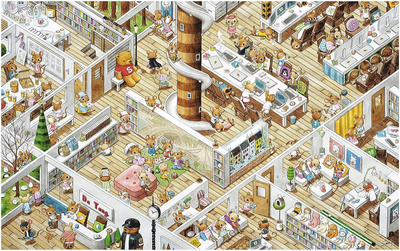 de moda Pintoo - H1777 - SMART - The Office - - - 4000 Piece Plastic Puzzle by Pintoo  venta mundialmente famosa en línea