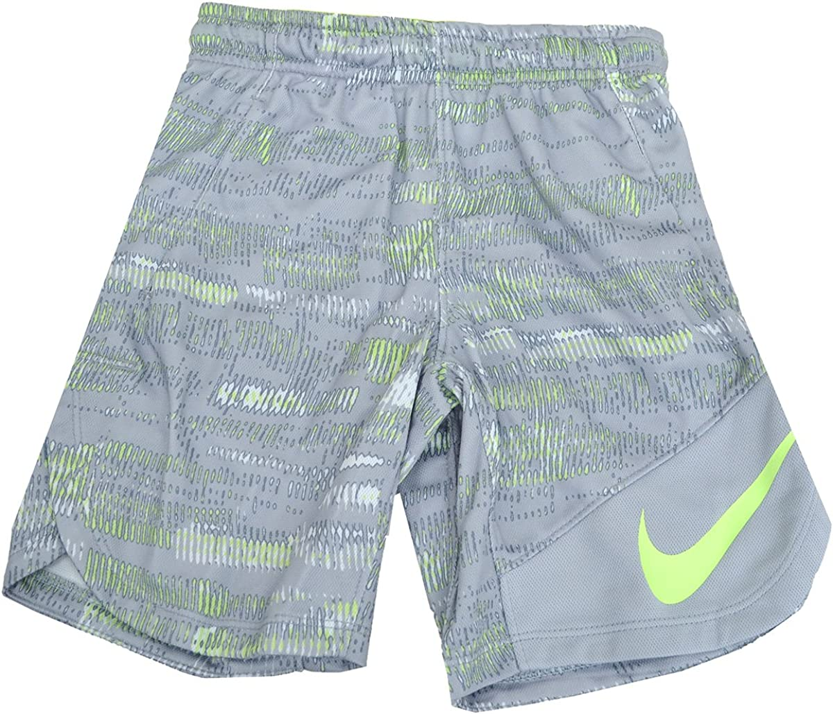 Nike Dri-FIT Vent Printed Shorts Little Boys Shorts Ghost Green Grey 4