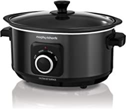 (Zwart) - Morphy Richards Slow Cooker Sear and Stew 460012 3.5L Black Slowcooker