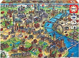 Educa- City Maps Puzzle 500 Pieces, Map of London (17687)