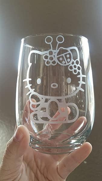 Hello Kitty 的无柄酒杯白酒杯红酒杯