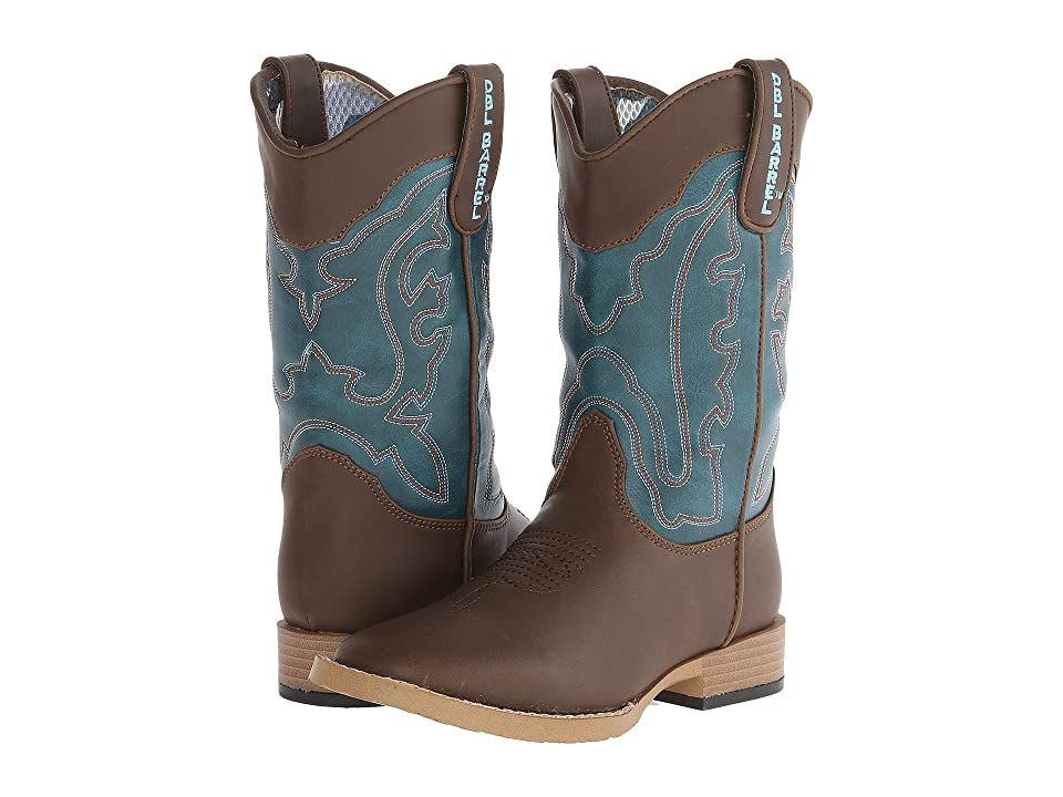 M&F Western Kids Open Range (Little Kid) (Brown/Turquoise) Cowboy Boots