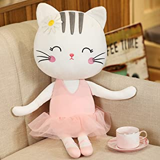 Plush Ballerina Dolls Kitty Cat Stuffed Animals Toys Ballet Dance Recital Gifts for Girls White 13.5 Inches