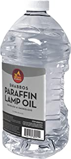 Ner Mitzvah Paraffin Lamp Oil - Clear Smokeless, Odorless, Clean Burning Fuel for Indoor and Outdoor Use - 2 Liter (67.6 oz)