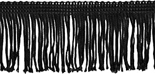 Chainette Fringe 10-Yard Polyester Fringe Rolls for Arts and Crafts, 2-Inch Long, Black