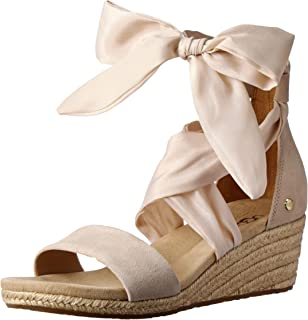 UGG Women's Trina Wedge Heel Ankle Wrap Sandals