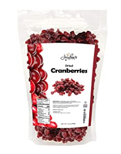 Jaybee's Nuts and Dried Fruits - Sweetened Dried Cranberries 15 oz - Packed in Resealable Bag - Sweet Dry Fruit Snack Treat, High in Antioxidants, Fiber, Vitamins - Healthy Superfood, Keto, Vegan Diet Friendly - Use for Baking, Cooking, Salads - Kosher