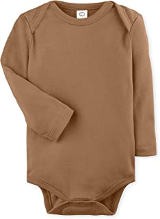 Colored Organics Unisex Baby Organic Cotton Bodysuit - Long Sleeve Infant Onesie
