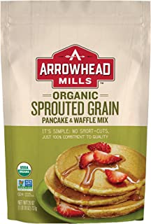 Arrowhead Mills Organic Sprouted Grain Pancake and Waffle Mix, 26 oz. Bag (Pack of 6)