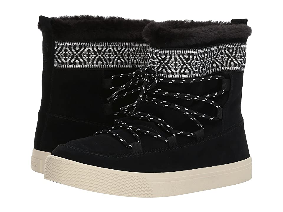 TOMS Alpine Water-Resistant Boot (Black Waterproof Suede/Tribal Webbing) Women