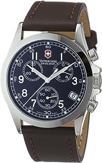 Victorinox - Swiss Army - Reloj cronógrafo de Cuarzo para Hombre con Correa de Piel, Color Negro