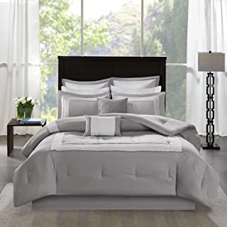 Madison Park Cozy Comforter Set-Deluxe Hotel Collection All Season Down Alternative Luxury Bedding with Matching Shams, De...