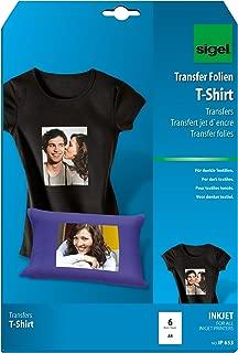 Sigel IP653 - Papel transfer para imprimir camisetas de