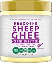 100% Natural New Zealand made Grass Fed Sheep Ghee, 250 ML, Keto Paleo Friendly Superfood by MILKIO