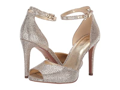 MICHAEL Michael Kors Cambria Sandal (Silver/Sand Glitter Mesh) Women