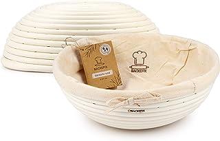 Backefix Gärkorb rund Durchmesser 27cm - Brotkorb für selbstgemachtes Brot, Gärkörbchen aus Peddigrohr