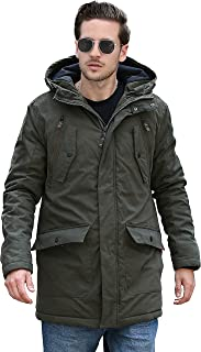YsCube 2019 Men Parka, Warm Insulated Parka, Men Winter Jacket, Waterproof Down Parka Coat