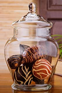 Home Essentials 11 Inch Vintage Rustic Clear Glass Storage Jar for Candy or Wedding Centerpiece