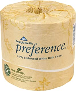Preference 2-Ply Embossed Toilet Paper by GP PRO (Georgia-Pacific), 18240/01, 550 Sheets Per Roll, 40 Rolls Per Case