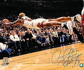 Dennis Rodman Autographed/Signed 20x24 Chicago Bulls Dive Photograph