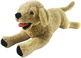 Houwsbaby Large Lifelike Golden Retriever Stuffed Animal Soft Realistic Dog Plush Toy Cuddly Puppy Kids Gift Home Decoration, 21inch (Golden Retriever)