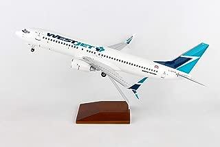 Daron Skymarks Westjet 737-800 1/100 W/Wood Stand &gear New Livery