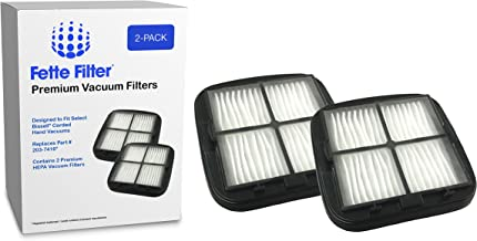 Vacuum Filter Compatible with Bissell 97D5. Compare 203-7416, 2037416 (2 pack)