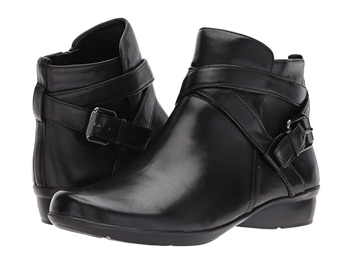 Naturalizer  Cassandra (Black Leather) Womens Pull-on Boots