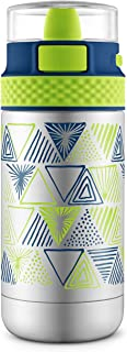 Ello Ride Stainless Steel Water Bottle, Touchdown Blue, 12 oz