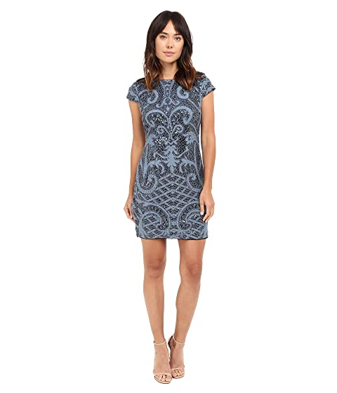 bd073a212d6 Adrianna Papell Lace and Sequin Cap Sleeve Dress at 6pm