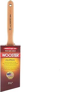 Wooster Brush 4243-2 1/2 Alpha Semi-Oval Angle Sash Paintbrush, 2-1/2-Inch