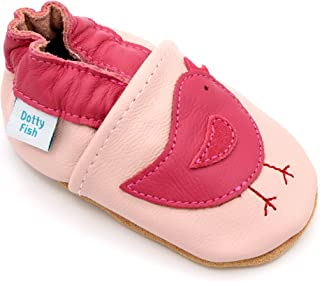 Dotty Fish Chaussures en Cuir Souple pour Les bébés et Les Tout-Petits. 0-6 Mois à 3-4 Ans. pour Les Filles, avec des Oise...