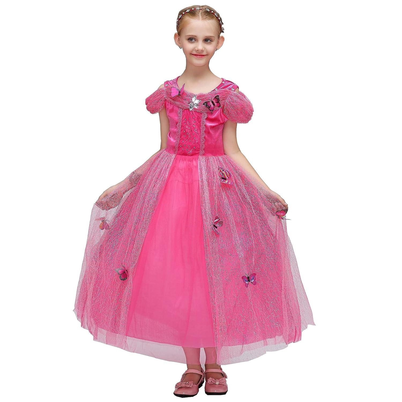 Fanstastcostumes シンデレラ風 子供 コスチューム 衣装 仮装 なりきり ドレス ワンピース フォーマル 蝶飾り付き