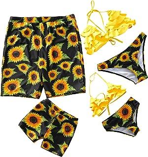 Yaffi Family Matching Swimsuit 2019 Newest Two Piece Bikini Set Ruffle Bathing Suit Mommy and Me Beachwear