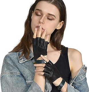 Jisen Women Fingerless Gloves