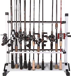 Sougayilang Fishing Rod Rack Metal Aluminum AlloyPortable Fishing Rod Holder Fishing Rod Organizer for All Type Fishing Po...