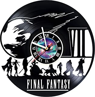 Final Fantasy 7 Adventure Anime PS PC Games Vinyl Record Wall Clock - Decorate your home with Modern Famous Final Fantasy Movie - Fantasy art design Incredible Art - LEAVE A FEEDBACK AND WIN A CLOCK