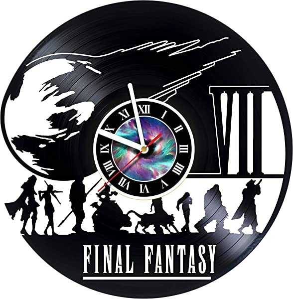 Final Fantasy 7 Adventure Anime PS PC Games Vinyl Record Wall Clock Decorate Your Home With Modern Famous Final Fantasy Movie Fantasy Art Design Incredible Art LEAVE A FEEDBACK AND WIN A CLOCK