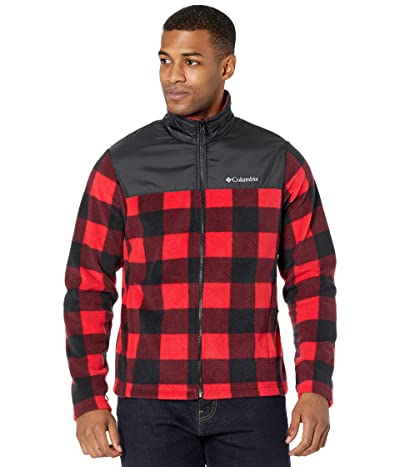 Columbia Bugabootm II Fleece Interchange Jacket (Black/Mountain Red Check/Mountain Red Pops) Men