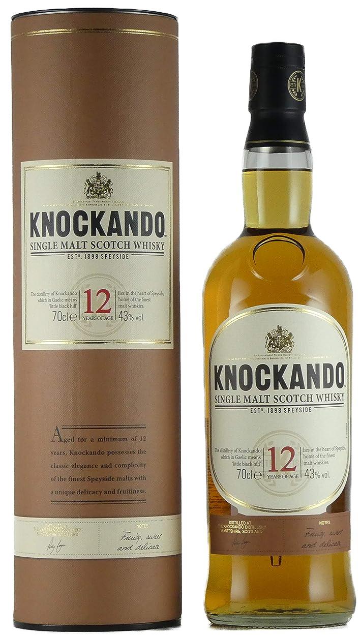 ゆり意図するおなじみのノッカンドゥ 12年 43% 700ml シングルモルトスコッチウイスキー [並行輸入品]