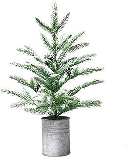 Varmax Small Christmas Tree Mini Rustic Christmas Decorations 21.5 inches