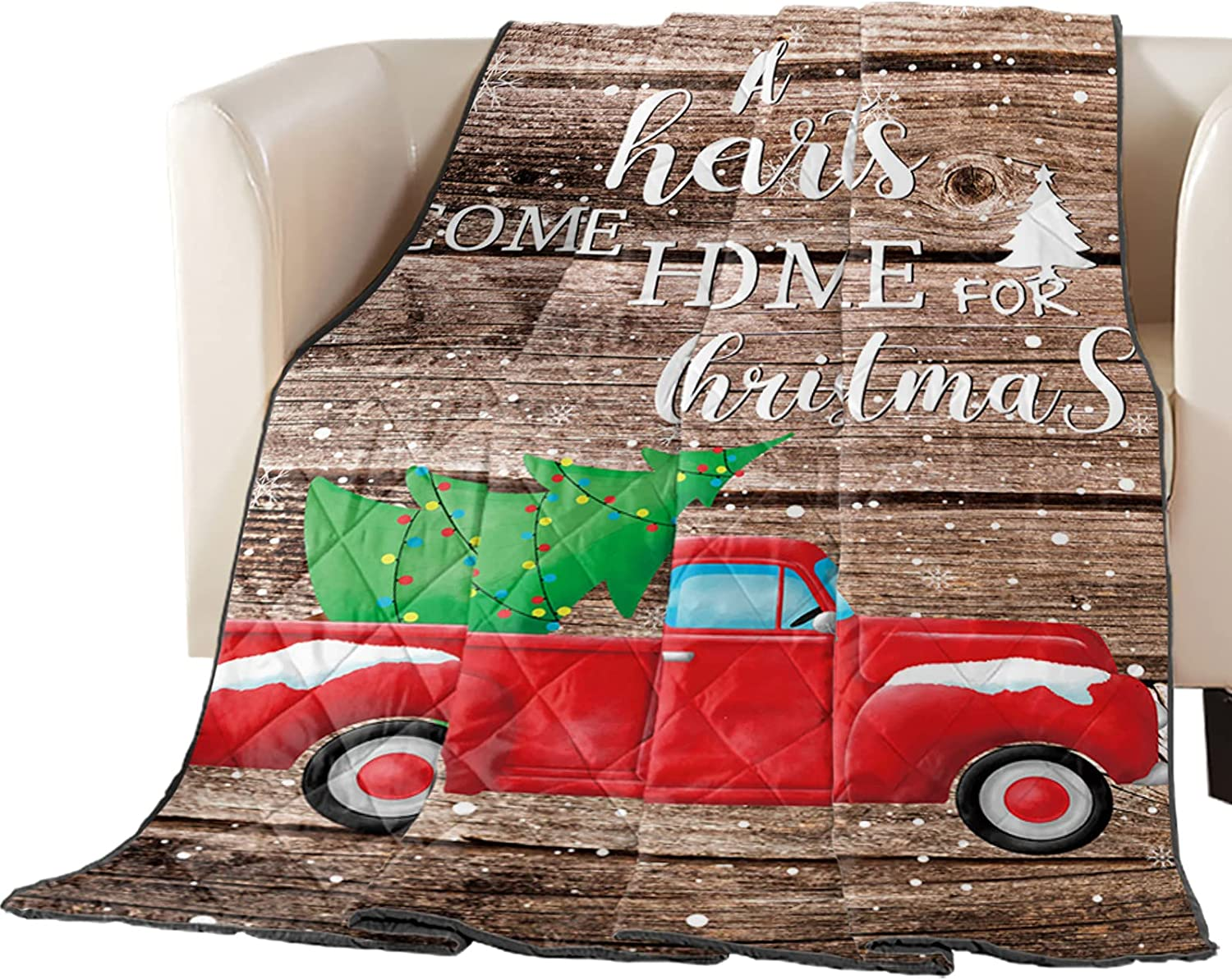 Down Alternative Comforter Merry Max 73% OFF Christmas Sale special price Red Trees Winter Farm