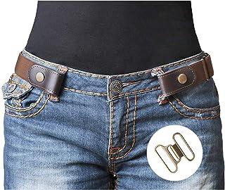 2877e40261 No Buckle Stretch Belt For Women/Men Elastic Waist Belt Up to 48